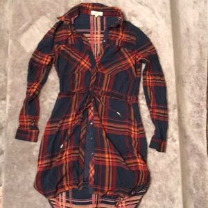 Plaid long shirt/dress